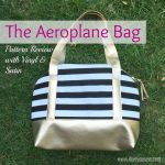 Aeroplane Bag: Pattern Review with Vinyl & Satin