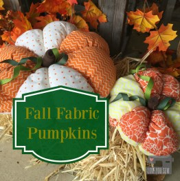 Fall Fabric Pumpkins Tutorial