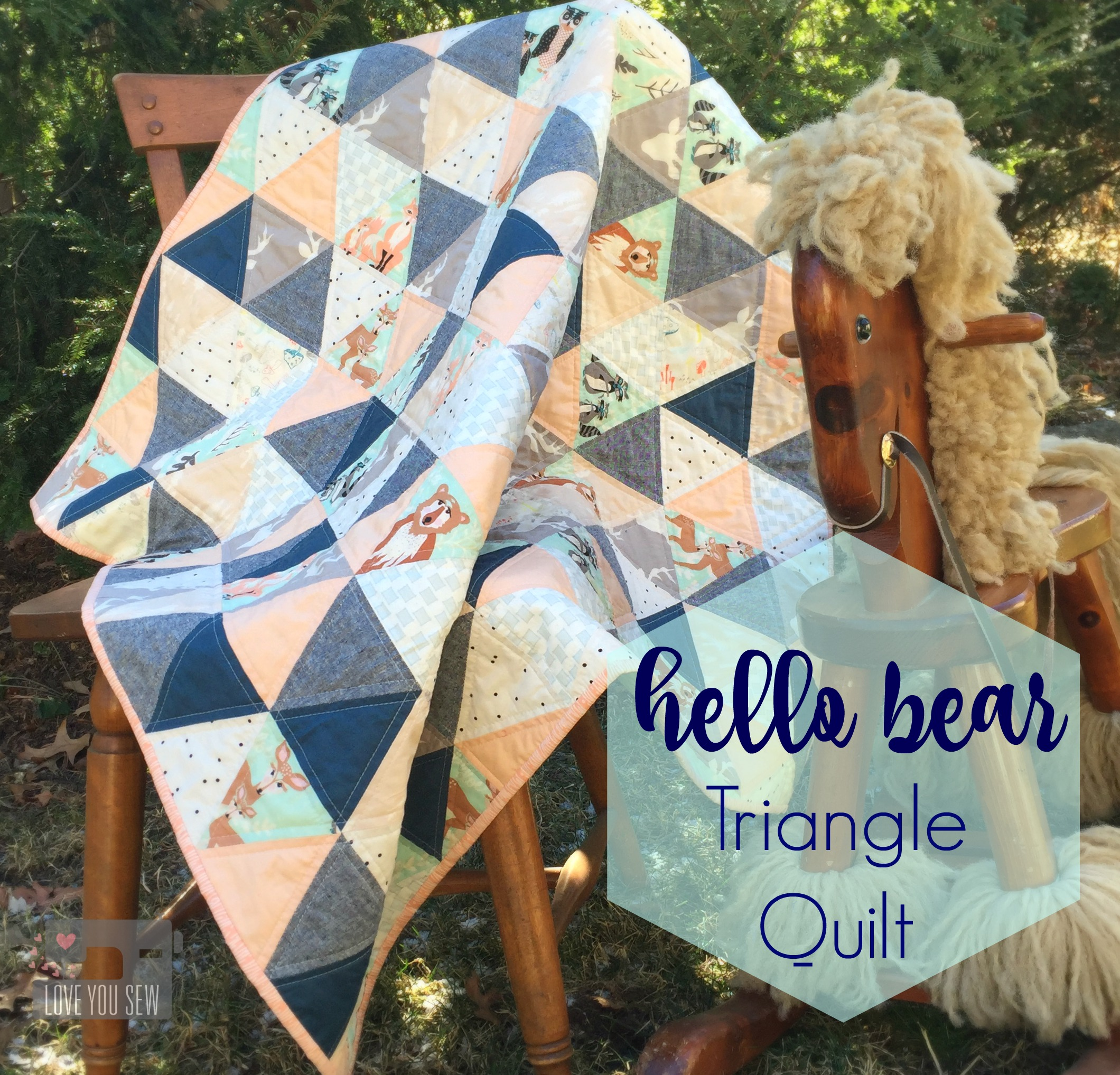 Hello Bear Triangle Quilt