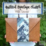 Quilted Envelope Clutch :: Free Tutorial