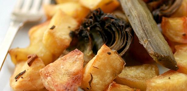 Carciofi e patate croccanti