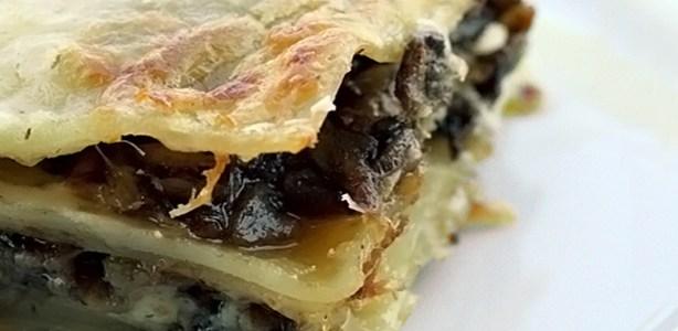 Lasagna con carciofi e mentuccia