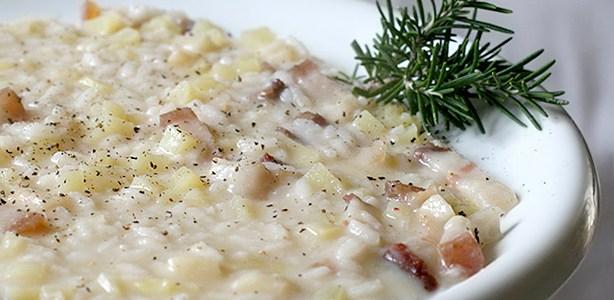 Risotto con il lardo e le patate