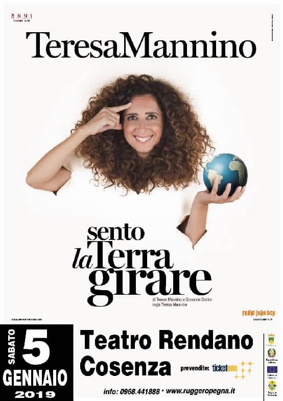 Teresa-Mannino-in-Sento-la-Terra-girare-5-gennaio-2019-a-Cosenza-locandina