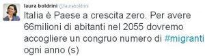 boldrini tweet grande sostituzione