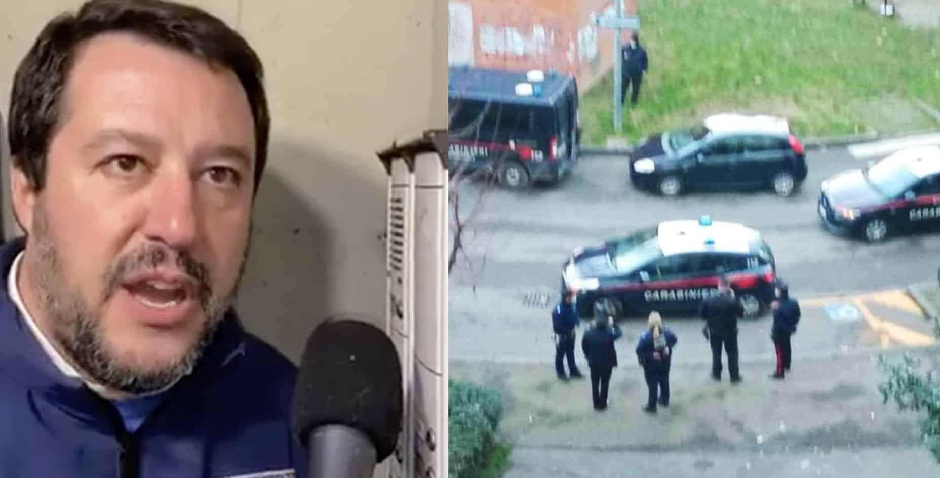 Blitz nell'appartamento della citofonata di Salvini: due arresti proprio per spaccio