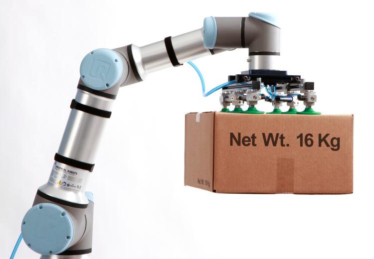 Il nuovo cobot UR16e di Universal Robots (UR).