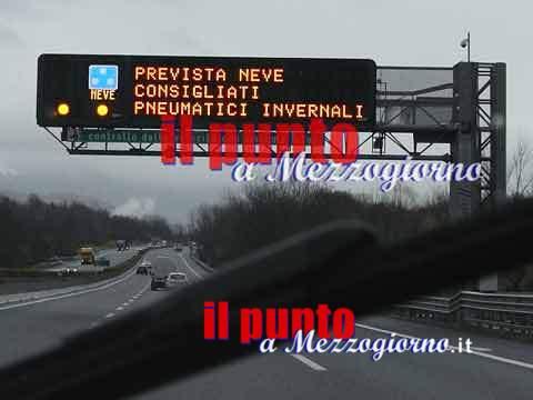 Grande freddo, allerta anche sull'A1 tra Chiusi e Cassino. i Consigli di Autostrade