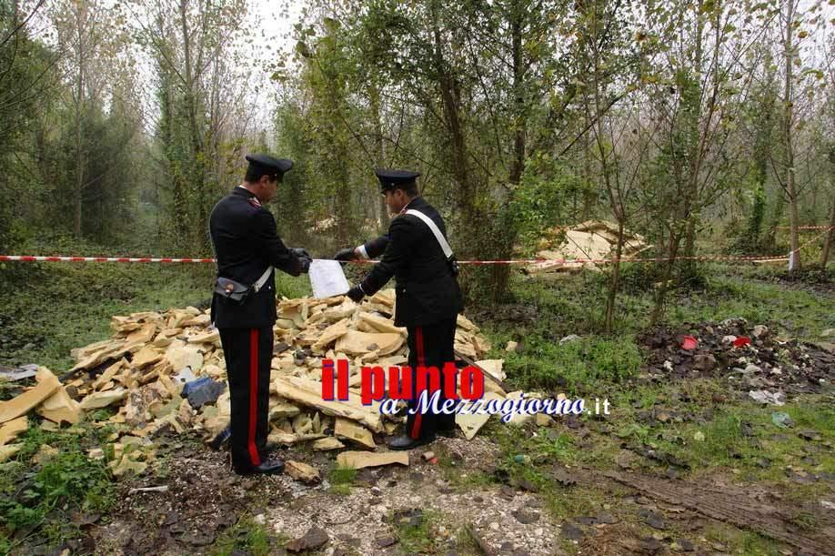 Anagni, scoperta dai carabinieri una discarica abusiva di rifiuti urbani e pericolosi