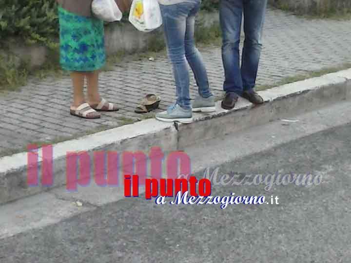 donna ferita in strada