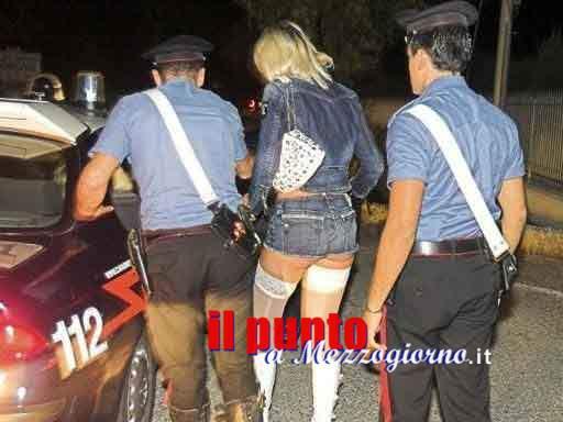 Multate e allontanate, a Cassino carabinieri a caccia di prostitute
