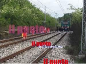 donna investita da treno