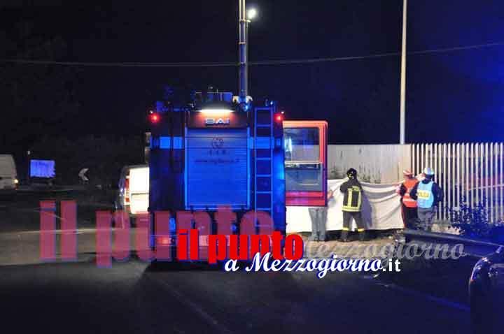 Tragedia della strada sulla Sora Cassino, un morto nello schianto tra auto e tir