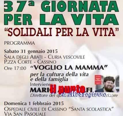 Mario Adinolfi ospite alla 37esima Giornata per la Vita
