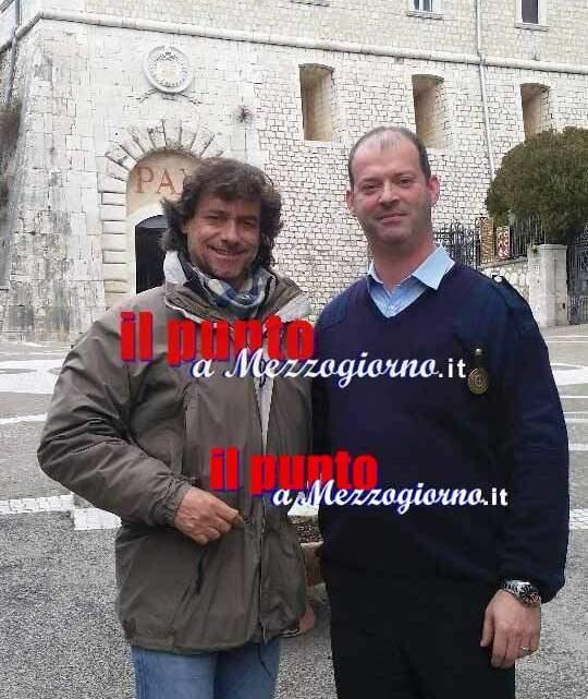 Alberto Angela a Montecassino per girare una puntata di Ulisse