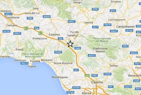Terremoto, lieve scossa tra le province di Caserta Frosinone ed Isernia