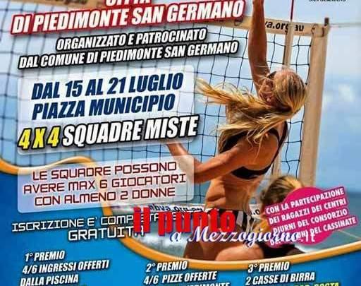 Primo torneo di Beach volley a Piedimonte San Germano