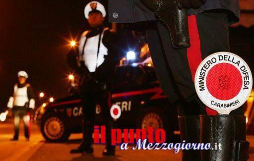 Controllo del territorio; arrestato dai carabinieri un 28enne, evade dai domiciliari per nove volte