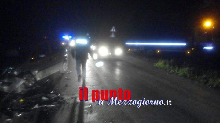Schianto sulla Casilina a Cassino, due feriti