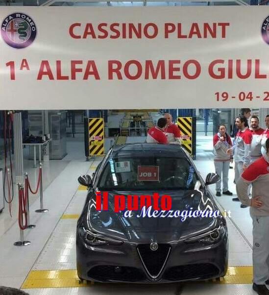 In 4280 aggrappati alla speranza Alfa Giulia, a Maggio la Solidarietà nello stabilimento Fca di Piedimonte