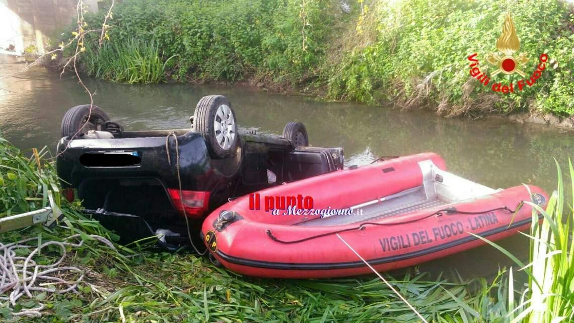 Incidente stradale Latina – finisce nel canale con l'auto, muore 47enne di Sezze