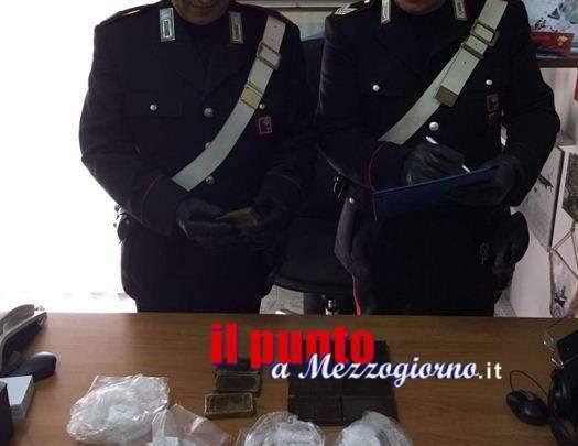 Hashish e cocaina a Scauri, arrestato 31enne. Aveva oltre un chilo di droga