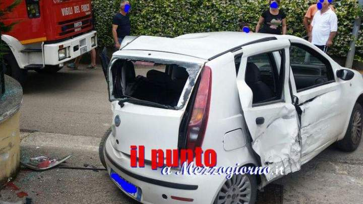 Incidente stradale in via Selvotta a Cassino, automobilista ferito