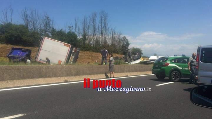 Incidente tra tir tra Valmontone e Colleferro, autostrada A1 chiusa
