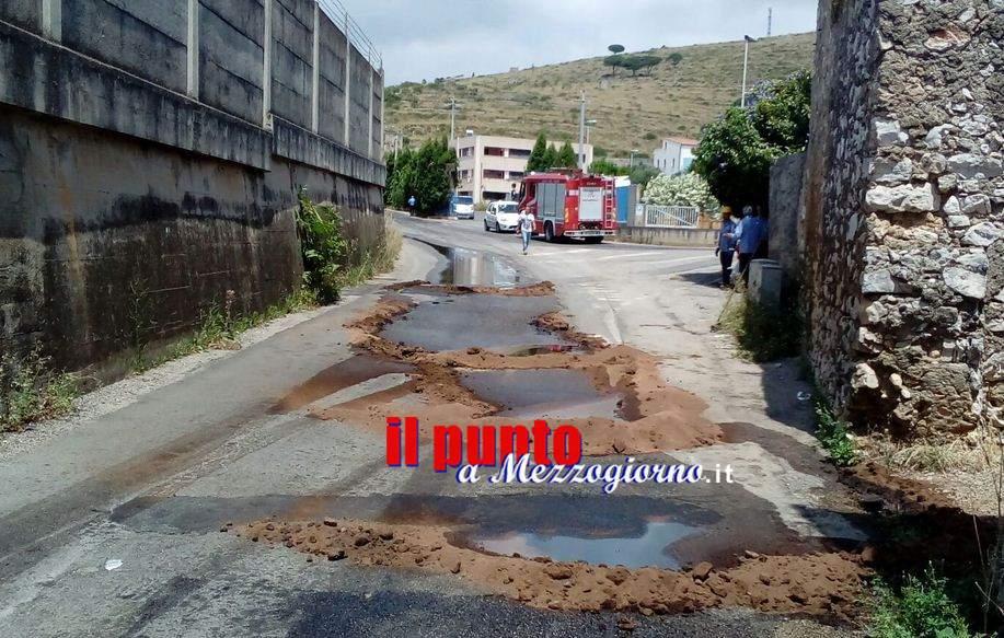 Si rompe la conduttura di gasolio sotterranea, allarme ambientale a Gaeta