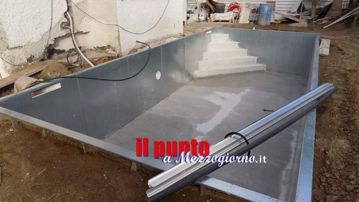 Lavori abusivi, villa con piscina sequestrata a San Felice Circeo