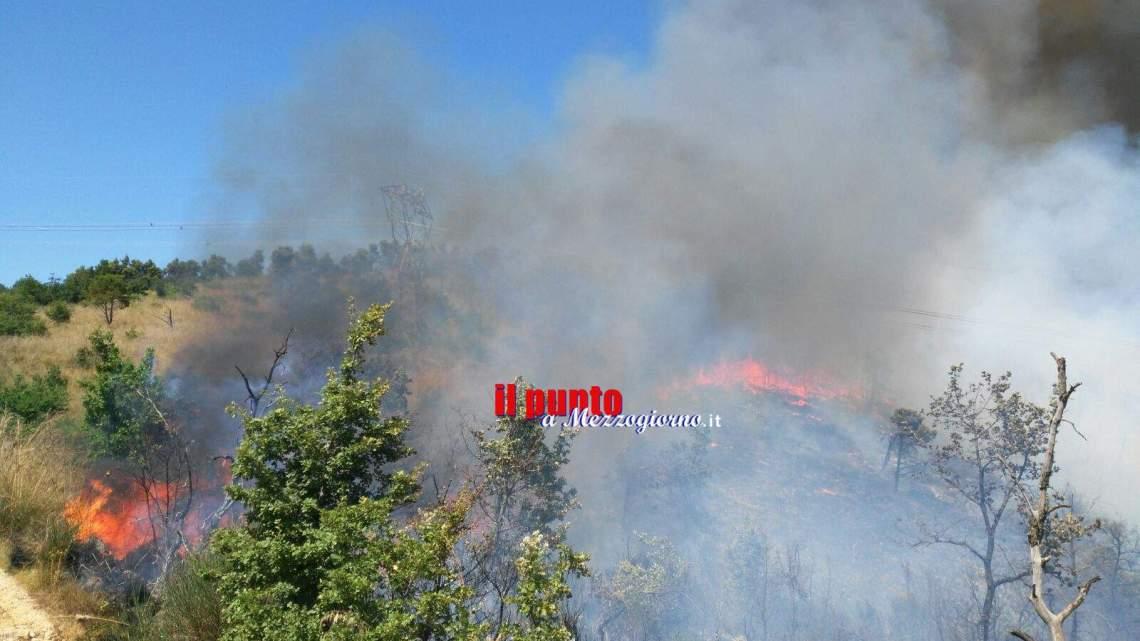 Incendio vastissimo a Pastena. Sul posto vigili del fuoco