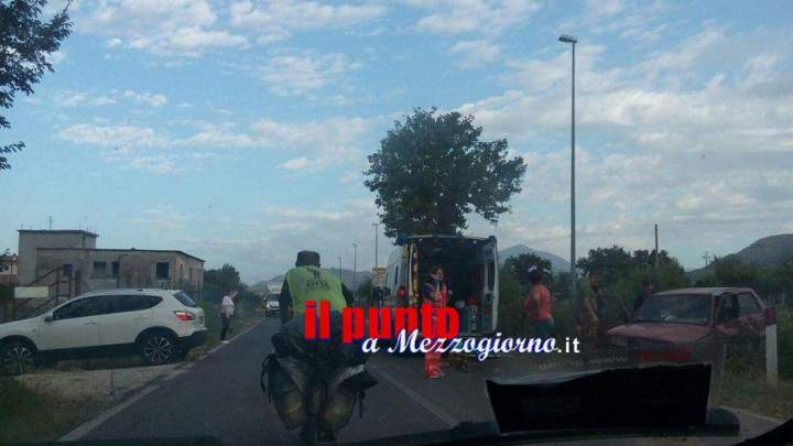Incidente stradale sulla Casilina a San Vittore del Lazio, automobilista ferito