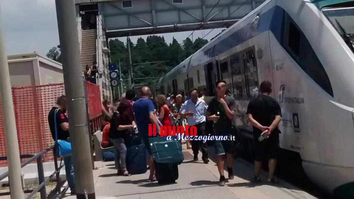 Treno della linea Roma Cassino si rompe e resta fermo per oltre un'ora a Valmontone