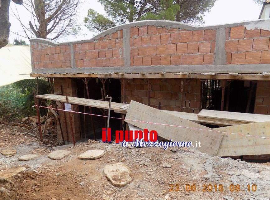 Cantiere abusivo di villa con pisciana e solarium sequestrato a Terracina