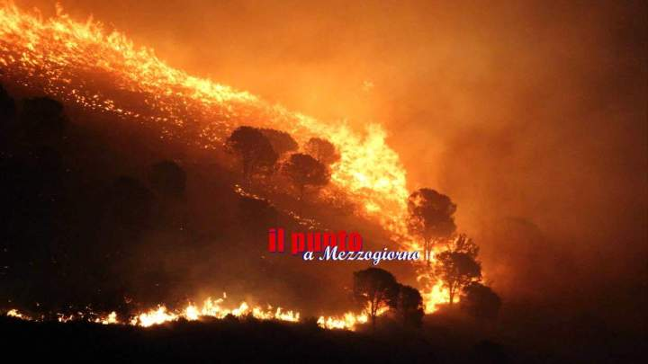 Incendio doloso devasta Monte Porchio, quattro focolai accesi in punti diversi