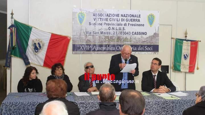 Giovanni Vizzaccaro rieletto all'unanimità presidente dell'Associazione Nazionale Vittime Civili di Guerra, sezione provinciale di Frosinone