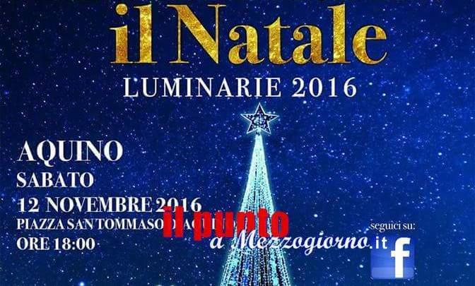Aquino- Questa sera accensione delle luminarie del Natale 2016