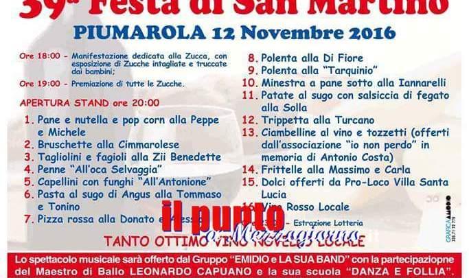 Tutto pronto per la festa di San Martino a Piumarola