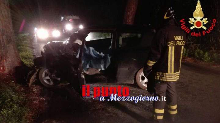 Incidente stradale, nello schianto contro un albero muore 38enne di Cori e rimane ferita donna