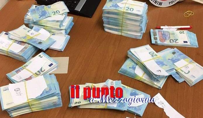 Soldi, 52mila euro in banconote false sequestrate nel Cassinate