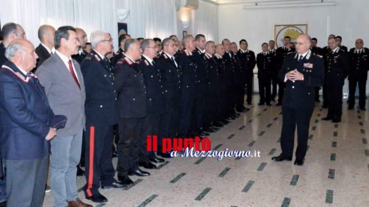 Il comandante dei carabinieri della Legione Lazio Agovino in visita al comando di Frosinone