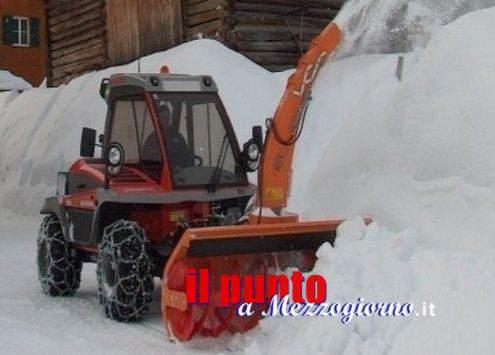 Da Frosinone due turbine per rimuovere la neve dalle strade di Amatrice