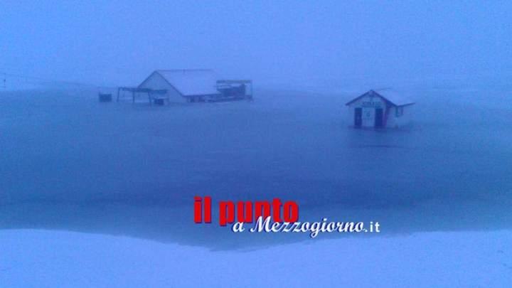 Allagato Campocatino, pista da sci si trasforma in piscina