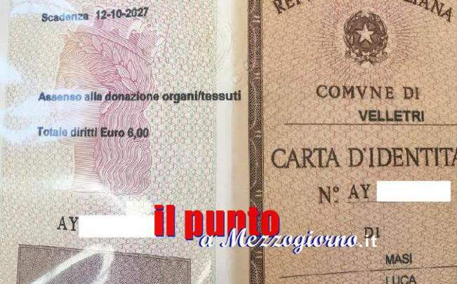 Velletri – Sulla carta di identità, la volontà di donare gli organi