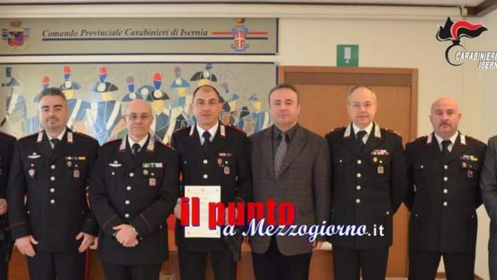 Fermarono due rapinatori. Premiati i carabinieri del comando provinciale di Isernia