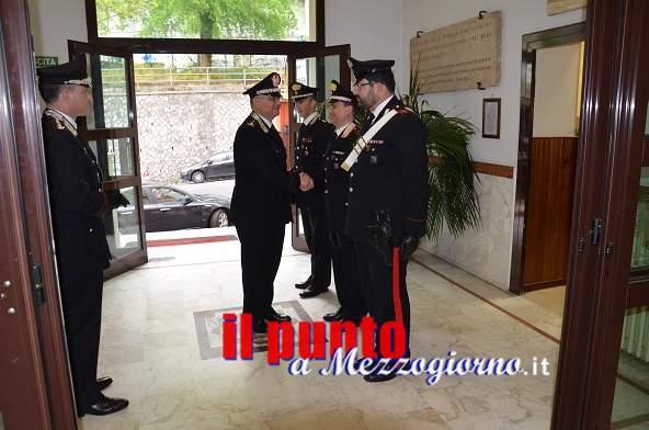 Il generale Agovino in visita al Provinciale di Frosinone