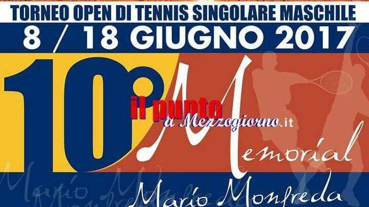 """A Cassino parte la 10ª edizione del torneo open di tennis """"Memorial Mario Monfreda"""""""