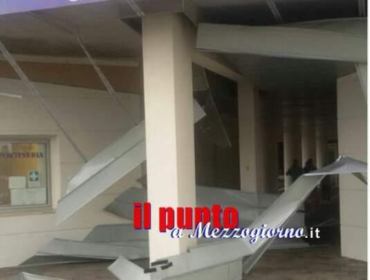 Campus universitario danneggiato dal temporale di sabato, crollata la controsoffittatura