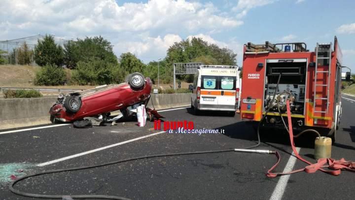 Cassino: Incidente in A1. Ragazza ferita, allertato elisoccorso