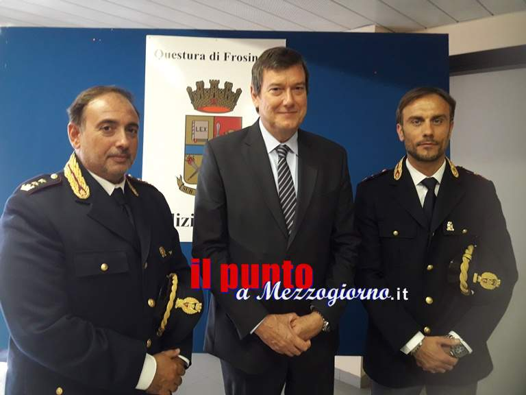 Questura di Frosinone : Presentati il Capo di Gabinetto ed il Portavoce